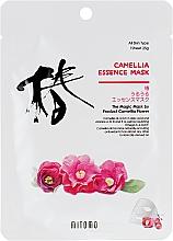 Parfums et Produits cosmétiques Masque tissu à l'extrait de camélia pour visage - Mitomo Camellia Essence Mask