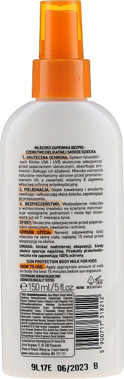 Spray solaire à l'huile de coton pour enfants - Lirene Kids Sun Protection Milk Spray SPF 50 — Photo N2