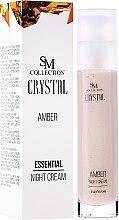 Parfums et Produits cosmétiques Crème de nuit à la poudre d'ambre et huile de jojoba - SM Collection Crystal Amber Night Cream