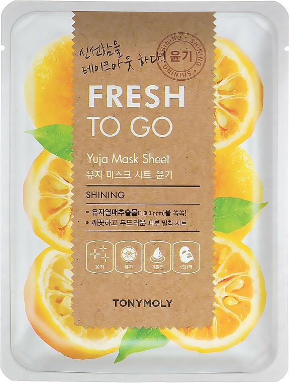 Masque tissu aux agrumes pour visage - Tony Moly Fresh To Go Mask Sheet Yuja — Photo N1