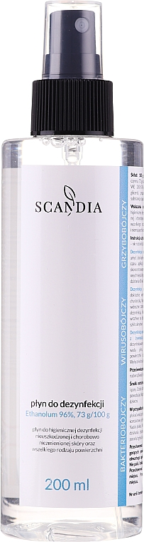 Désinfectant 96% éthanol - Scandia Cosmetics