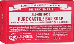 Parfums et Produits cosmétiques Savon bio, Rose - Dr. Bronner's Pure Castile Bar Soap Rose