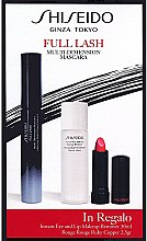 Parfums et Produits cosmétiques Kit de maquillage - Shiseido Full Lash Multi-Dimension Mascara (mascara/8ml + rouge à lèvres/2,5g + démaquillant/30ml)