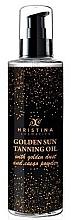 Parfums et Produits cosmétiques Huile de bronzage aux noix de coco et cacao - Hristina Cosmetics Golden Sun Tanning Oil