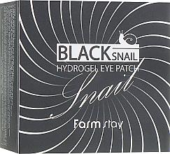 Parfums et Produits cosmétiques Patchs hydrogel à l'extrait d'escargot pour contour des yeux - FarmStay Black Snail Hydrogel Eye Patch