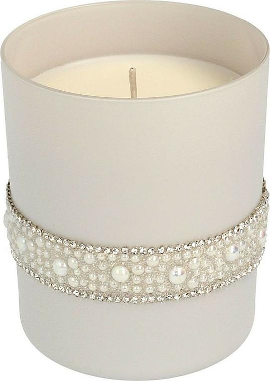 Bougie parfumée en verre, 8x9,5 cm, gris - Artman Crystal Glass Pearl — Photo N1