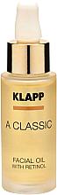 Parfums et Produits cosmétiques Huile au rétinol pour visage - Klapp A Classic Facial Oil With Retinol