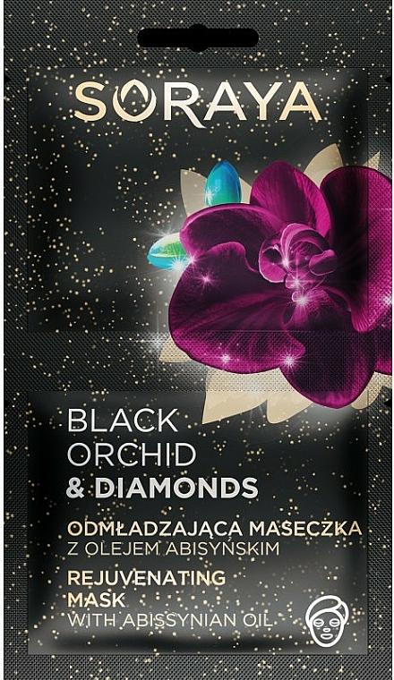 Masque à l'huile d'abyssinie pour visage - Soraya Black Orchid & Diamonds Rejuvenating Mask