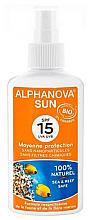 Parfums et Produits cosmétiques Crème solaire bio SPF 15 - Alphanova Sun Protection Spray SPF 15
