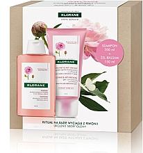 Parfums et Produits cosmétiques Klorane Peony - Set (shampooing/200ml + après-shampooing/150ml)