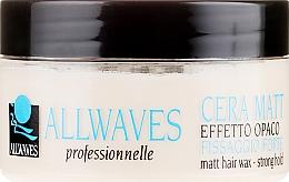 Parfums et Produits cosmétiques Cire coiffante matifiante tenue forte - Allwaves Matt Hair Wax