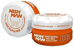 Parfums et Produits cosmétiques Gel-cire coiffant - Nishman Hair Styling Gel Wax B6 Mystic Gummy