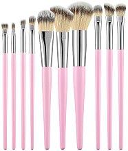 Parfums et Produits cosmétiques Kit pinceaux de maquillage professionnels, rose, 10 pcs - Tools For Beauty