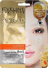 Parfums et Produits cosmétiques Masque tissu à l'or 24 carats pour visage - Eveline Cosmetics 24k Gold Nourishing Elixir Mask
