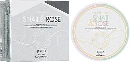 Parfums et Produits cosmétiques Patchs hydrogel au filtrat d'escargot et rose pour contour des yeux - Juno Medibeau Hydrogel Eye Patches Snail&Rose