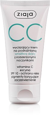 CC crème apaisante pour peaux sensibles et capillaires dilatés - Ziaja Soothing CC-Cream SPF10