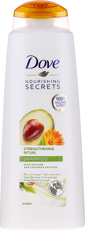 Shampooing à l'extrait de calendula et avocat - Dove Nourishing Secrets Invigorating Ritual Shampoo