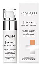 Parfums et Produits cosmétiques Masque de nuit à l'acide glycolique et isododécane - Symbiosis London Refuelling & Oxygenating Nano-Cloud Bubbling Night Mask