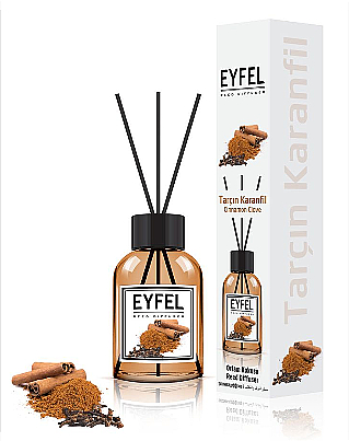 Bâtonnets parfumés, Cannelle et Giroflier - Eyfel Perfume Reed Diffuser Cinnamon Clove