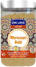 Parfums et Produits cosmétiques Sels de bain moussants à l'huile de marula et argan - On Line Senses Bath Salt Moroccan Gold