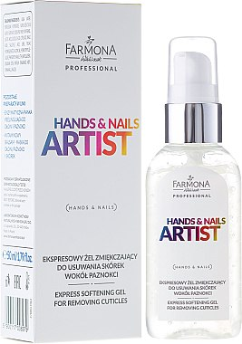 Gel émollient express éliminant les cuticules autour des ongles - Farmona Professional Hands and Nails Artist Express Softening Gel For Removing Cuticles