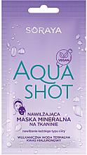 Parfums et Produits cosmétiques Masque tissu à l'eau thermale et acide hyaluronique pour visage - Soraya Aquashot