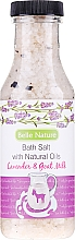 Parfums et Produits cosmétiques Sel de bain à l'huile naturelle de lavande et lait de chèvre - Belle Nature Bath Salt