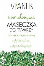 Parfums et Produits cosmétiques Masque à l'argile verte et charbon actif pour visage - Vianek