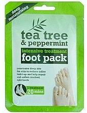 Parfums et Produits cosmétiques Chaussettes de soin à l'arbre à thé et menthe pour les pieds - Xpel Marketing Ltd Tea Tree & Peppermint Deep Moisturising Foot Pack