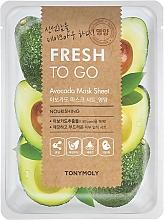 Parfums et Produits cosmétiques Masque tissu à l'extrait d'avocat pour visage - Tony Moly Fresh To Go Avocado Mask Sheet Nourishing