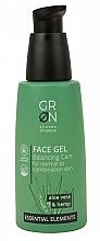 Parfums et Produits cosmétiques Gel équilibrant bio à l'aloe vera et huile de chanvre pour visage - GRN Essential Elements Aloe Vera & Hemp Face Gel