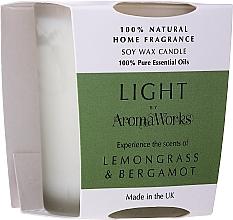 Parfums et Produits cosmétiques Bougie parfumée de soja, citronnelle & bergamote - AromaWorks Light Range Lemongrass & Bergamot Candle