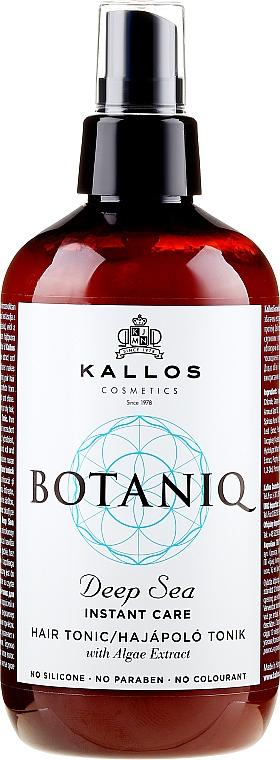 Spray tonique à l'extrait d'algues pour cheveux - Kallos Cosmetics Botaniq Deep Sea Instant Care Hair Tonic