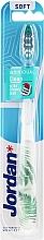 Parfums et Produits cosmétiques Brosse à dents, souple, blanc-vert - Jordan Individual Clean Soft