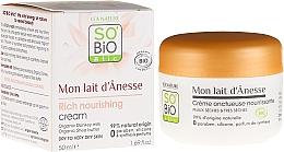 Parfums et Produits cosmétiques Crème visage nourrissante intensive au lait d'ânesse - So'Bio Etic Mon Lait d'Anesse Rich Nourishing Cream