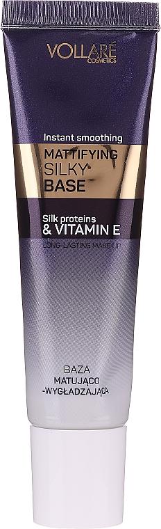 Base de maquillage matifiante à la vitamine E - Vollare Cosmetics Mattifying Silky Base Instant Smoothing