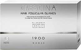 Parfums et Produits cosmétiques Traitement anti-chute, 20 ampoules - Crescina Hair Follicular Island Re-Growth Anti-Hair Loss Complete Treatment 1900 Woman