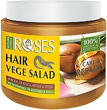 Parfums et Produits cosmétiques Masque à l'huile de rose et d'argan pour cheveux - Nature of Agiva Roses Care & Repair Hair Mask