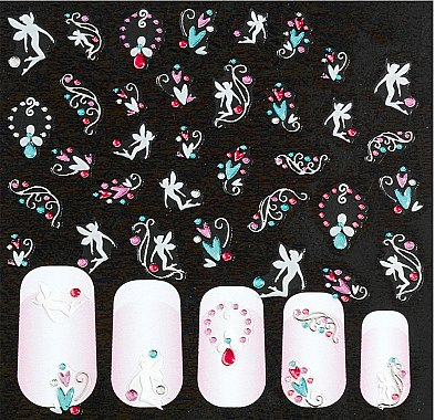 Autocollants pour ongles - Peggy Sage Decorative Nail Stickers Nail Art
