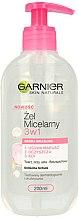 Parfums et Produits cosmétiques Gel nettoyant micellaire 3 en 1 pour peaux sensibles - Garnier Skin Naturals Cleansing Micellar Gel