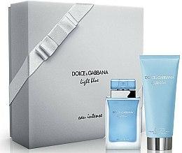 Parfums et Produits cosmétiques Dolce & Gabbana Light Blue Eau Intense - Coffret (eau de parfum/50ml + crème pour corps/100ml)