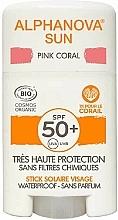 Parfums et Produits cosmétiques Stick solaire - Alphanova Sun Pink Coral SPF50+