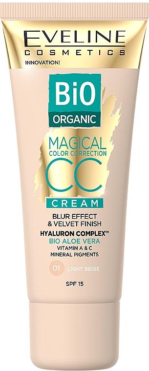 CC crème à l'aloe vera bio - Eveline Cosmetics Bio Organic Magical CC Cream SPF 15
