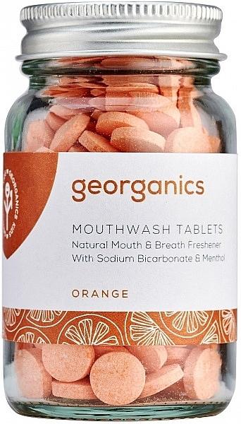 Comprimés de bain de bouche, Orange - Georganics Mouthwash Tablets Orange — Photo N1