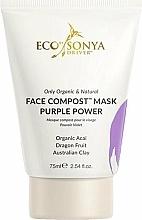 Parfums et Produits cosmétiques Masque à l'extrait de baies d'açaï pour visage - Eco by Sonya Face Compost Mask Purple Power