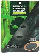 Parfums et Produits cosmétiques Masque tissu pour visage - G-synergie Bamboo & Philippine Charcoal Face Mask