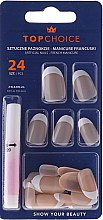 Parfums et Produits cosmétiques Kit de faux ongles avec colle French, 74042 - Top Choice