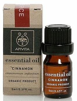 Huile essentielle de cannellle 100 % pure - Apivita Aromatherapy Organic Cinnamon Oil  — Photo N1