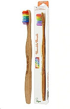 Parfums et Produits cosmétiques Brosse à dents en bambou, arc en ciel - The Humble Co. Proud Rainbow Soft Toothbrush