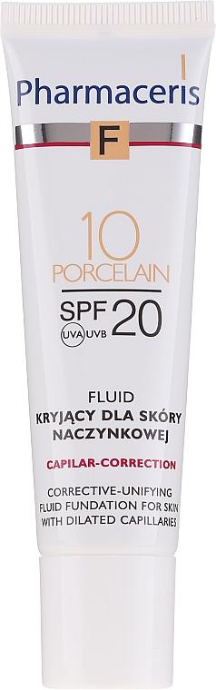 Fluide de traitement cutané pour la couperose du visage - Pharmaceris F Capilar-Correction Fluid SPF20